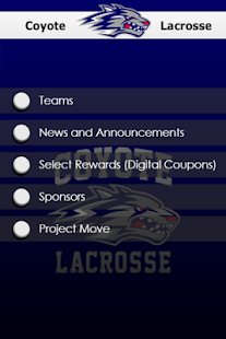Coyotes Lacrosse - screenshot