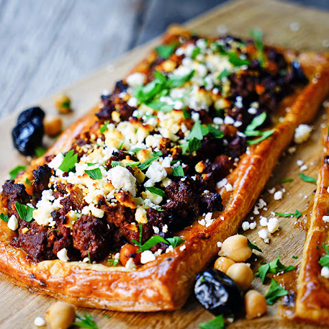 Greek Lamb, Chickpea and Feta Tart