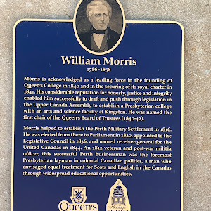 William Morris1786-1858Morris is acknowledged as a leading force in the founding of Queen's College in 1840 and in the securing of its royal charter in 1841. His considerable reputation for honsty, ...