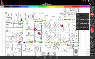 Screenshot of iBwave Mobile Note