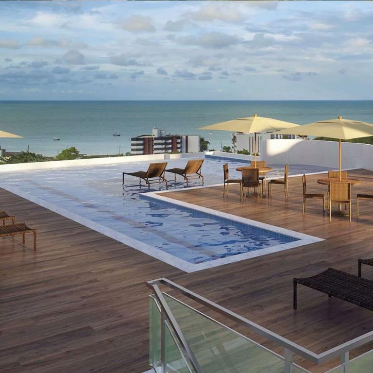 Apartamento com 1 dormitório à venda, 37 m² por R$ 269.900 - Bessa - João Pessoa/PB