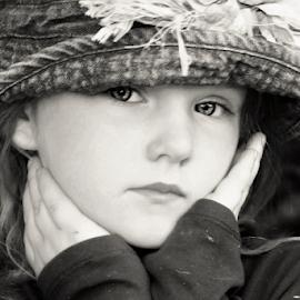 Perfectly Poised B&W by Cheryl Korotky - Black & White Portraits & People