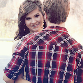young love by Autumn Horton - People Couples ( love, ring, autumn, plaid, fall, true love, couple, smile, flannel, young, people, couples )