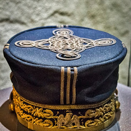 Mexican Soldier Hat by Sergio Yorick - Artistic Objects Clothing & Accessories ( soldier, color, blue, artistic, objects, hat )