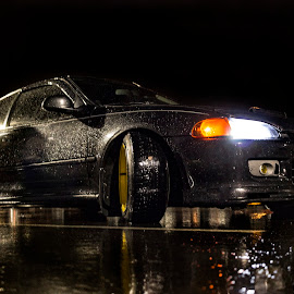 HondaFlections by Kevin Smith - Transportation Automobiles ( car, reflection, honda, night, transportation, stance,  )