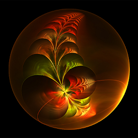 Bubble, Flower by Cassy 67 - Illustration Abstract & Patterns ( bubble, digital art, fractal art, fractal, digital, flower )