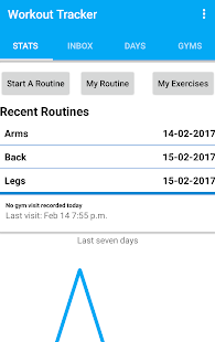 GYM Workout Tracker Fitness app screenshot for Android