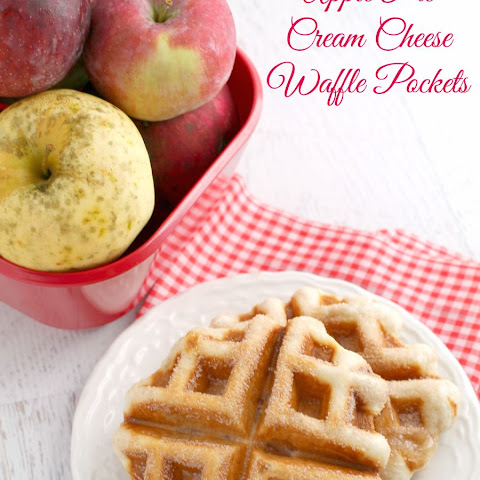Apple Pie Cream Cheese Waffle Pockets