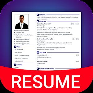 Resume Builder App Free CV maker CV templates 2019 Online PC (Windows / MAC)