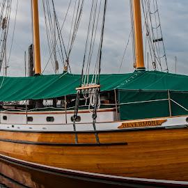 Never More by James Martinez - Transportation Boats ( wood, marina, sailboat,  )