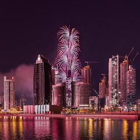 Dubai Fireworks 2016 by Walid Ahmad - Public Holidays New Year's Eve ( dubai, new year, uae, 2016, fireworks, burj khalifa )