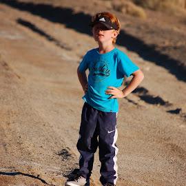 hmm by Savannah Eubanks - Babies & Children Children Candids ( desert, -boy )