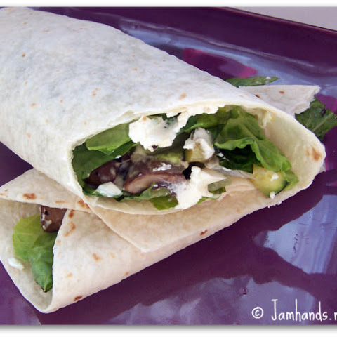 Roasted Vegetable & Goat Cheese Wrap