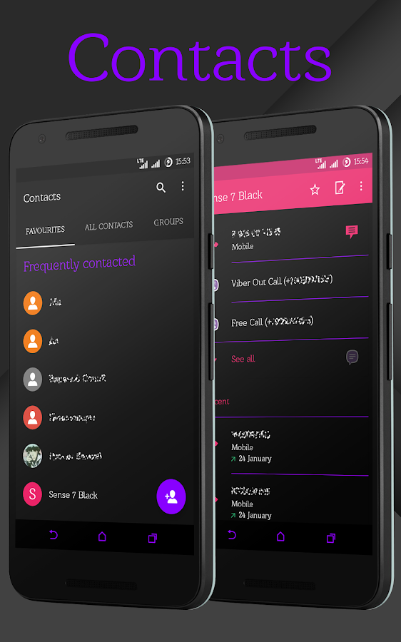 Sense Black/Purple cm13 theme Screenshot 5