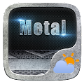 Metal GO Weather Widget Theme APK for Bluestacks