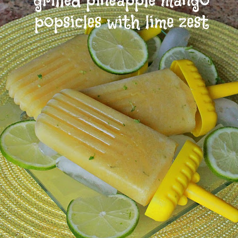 Grilled Pineapple Mango Popsicles