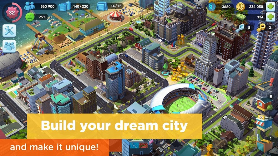 SimCity BuildIt Android App Screenshot