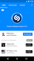 Screenshot of Shazam