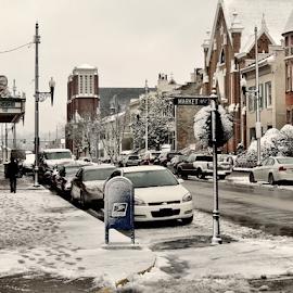 Maysville Market Street by Alexander West - City,  Street & Park  Street Scenes ( russel, market, theatre, street, clooney, rosemary, downtown, kentucky, maysville )