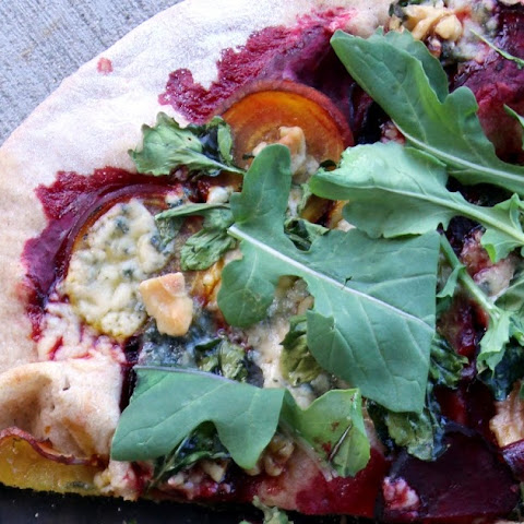 Beet, Blue Cheese & Arugula Pizza