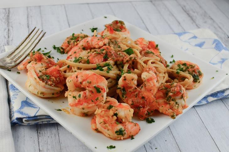 Shrimp Linguine In A Tomato And White Wine Sauce Recipes — Dishmaps
