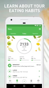 Runtastic Balance Food Tracker & Calorie Counter Fitness app screenshot for Android