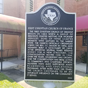 The First Christian Church of Orange began in 1885 when a group of residents started meeting for worship services. Some of these charter members were baptized in the Sabine River. The church ...