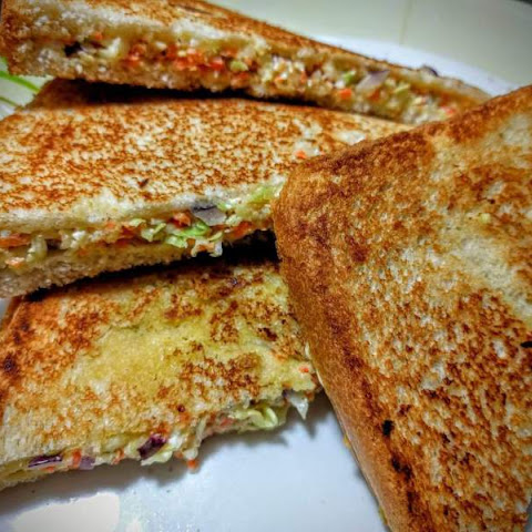 Vegetable Grilled Cheese Sandwich