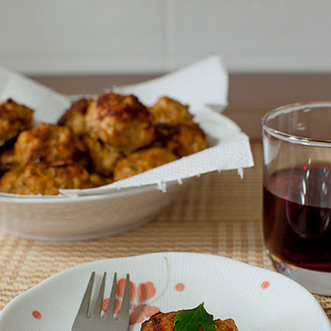 Baked Chicken-Pork Meatballs