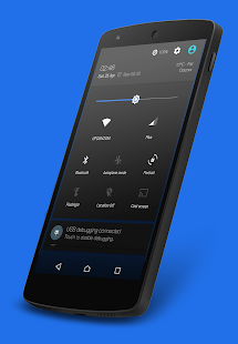 Nuclear Blue CM13 Theme- screenshot thumbnail