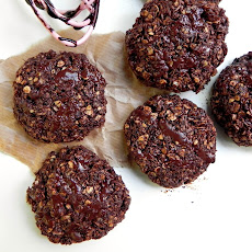 No Bake Chocolate Coconut Oat Cookies