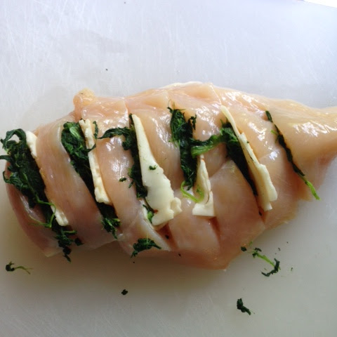 Hasselback Chicken with Spinach and Pepper Jack