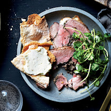 Olive-Stuffed Leg of Lamb