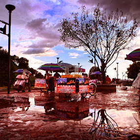 Open Market by Cristobal Garciaferro Rubio - City,  Street & Park  Markets & Shops ( water, reflection, tree, pwcmarkets )