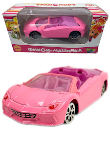 """Машинка гоночная """"Фиксики"""" 1:64 Симка розовая"""