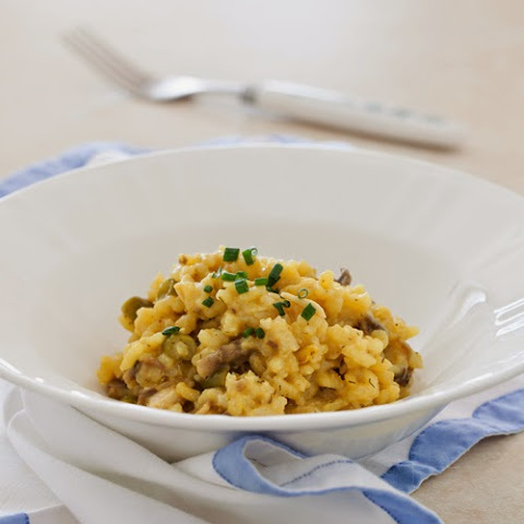 Mushroom Risotto with Coconut Milk