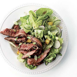 Grilled Steak Salad with Pineapple-Ginger Dressing