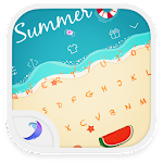 Emoji Keyboard-At the Beach APK Image