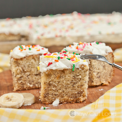 Banana Cake with Whipped Cream Cheese Frosting