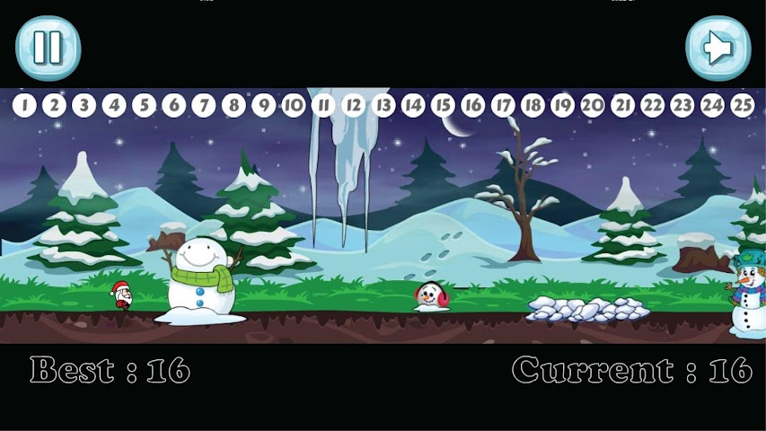 android Santa Christmas Run Screenshot 1
