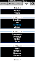 Screenshot of Football NFL Schedule & Scores
