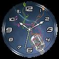 Music Clock Live Wallpaper