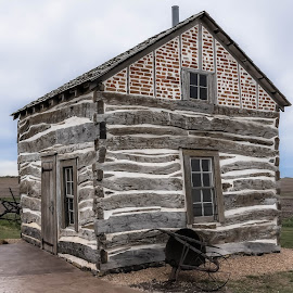 Homestead Cabin 1867 by Mike Hotovy - Buildings & Architecture Public & Historical
