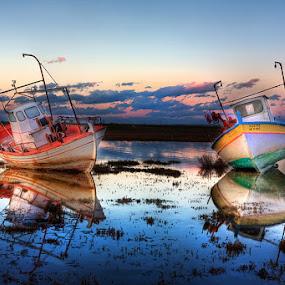 Sleeping boats by Χρήστος Λαμπριανίδης - Landscapes Waterscapes