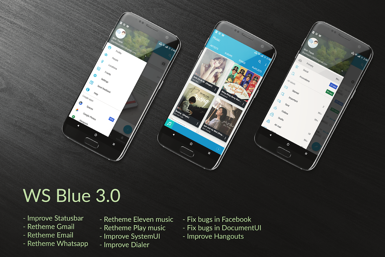 CM12.x/CM13 WS Blue Theme Screenshot 0