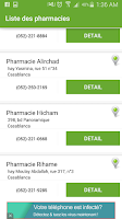 Screenshot of Pharmacie de Garde Maroc