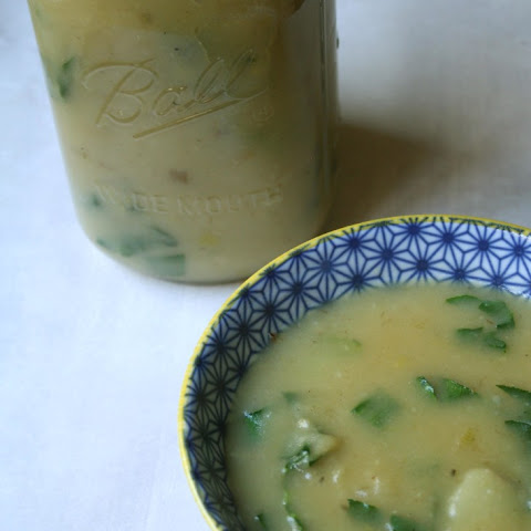 POTATO LEEK BOK CHOY SOUP