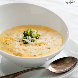 Roasted Broccoli Cheese Soup