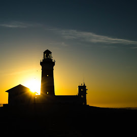 Cape Recife Lighthouse silhouette at sunrise by Cindy Bester - Buildings & Architecture Public & Historical ( sky, silhouette, lighthouse, sunrise, sun )