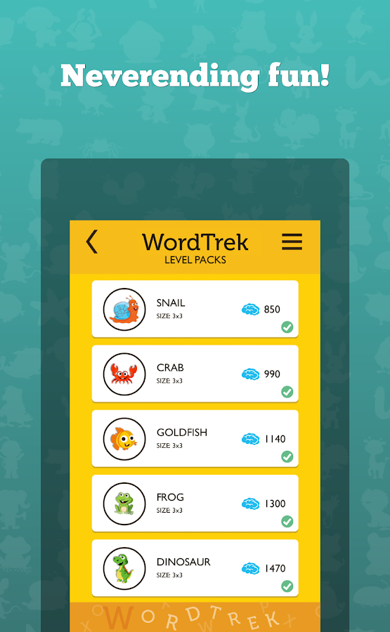 WordTrek - Word puzzles game Screenshot 2